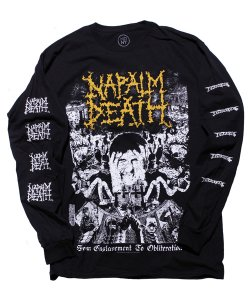 NAPALM DEATH<br>【 FROM ENSLAVEMENT TO OBLITERATION LONG SLEEVE SHIRT 】