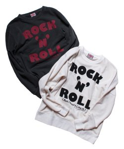 "RALEIGH:REDMOTEL(2色展開)<br>【 RALEIGH BEGINNERS ""ROCK'N'ROLL (But I Don't Like It!!!)"" C/N SWEAT 】"