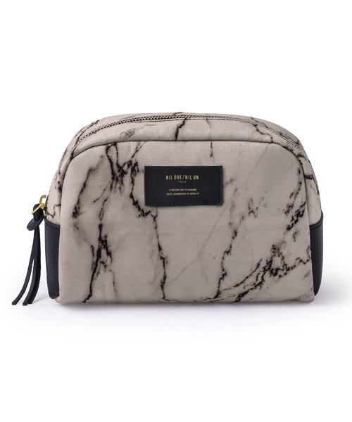 NIL DUE / NIL UN TOKYO / ニル デュエ / ニル アン トーキョー   LARGE LEATHER TAG POUCH / MARBLE 商品画像1