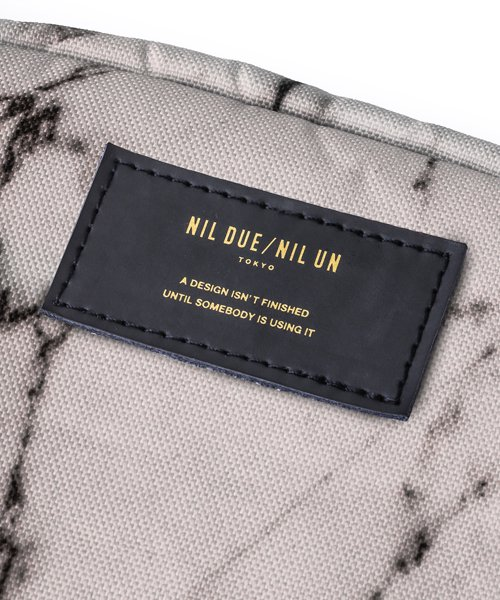NIL DUE / NIL UN TOKYO / ニル デュエ / ニル アン トーキョー   LARGE LEATHER TAG POUCH / MARBLE 商品画像4