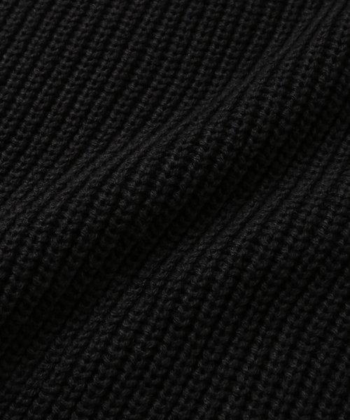 NIL DUE / NIL UN TOKYO / ニル デュエ / ニル アン トーキョー  SIDE SPLIT LONG KNIT HOODIE (BLK) 商品画像19