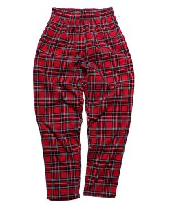 COOKMAN:クックマン(UNISEX)<br>【 CHEF PANTS CORDUROY TARTAN:RED 】