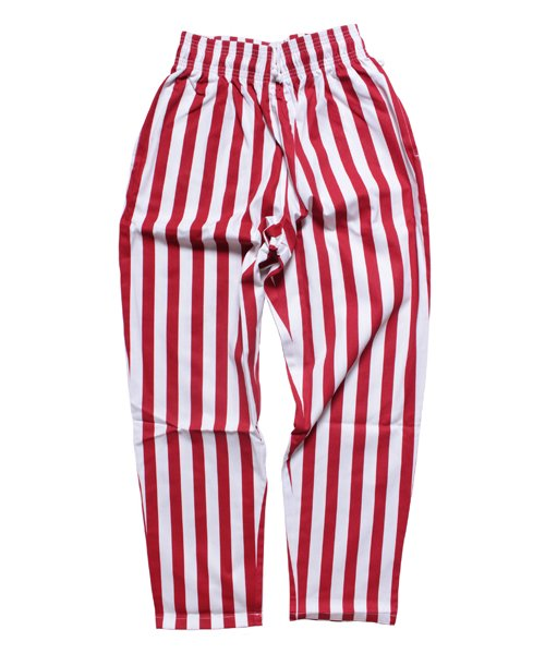 COOKMAN / クックマン |  CHEF PANTS / WIDE STRIPE (RED):チーフパンツ 商品画像
