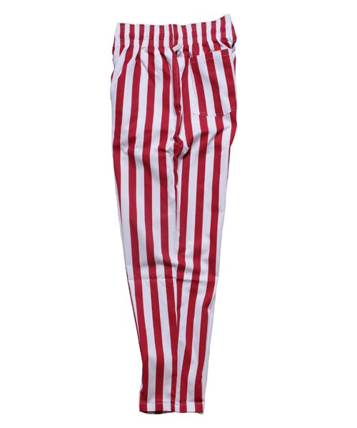 COOKMAN / クックマン | CHEF PANTS / WIDE STRIPE (RED):チーフパンツ 商品画像1