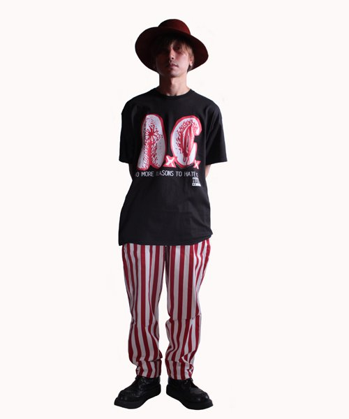 COOKMAN / クックマン | CHEF PANTS / WIDE STRIPE (RED):チーフパンツ 商品画像10