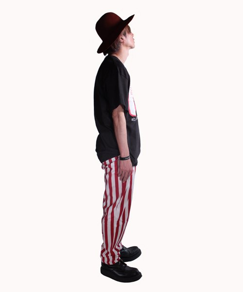COOKMAN / クックマン | CHEF PANTS / WIDE STRIPE (RED):チーフパンツ 商品画像11