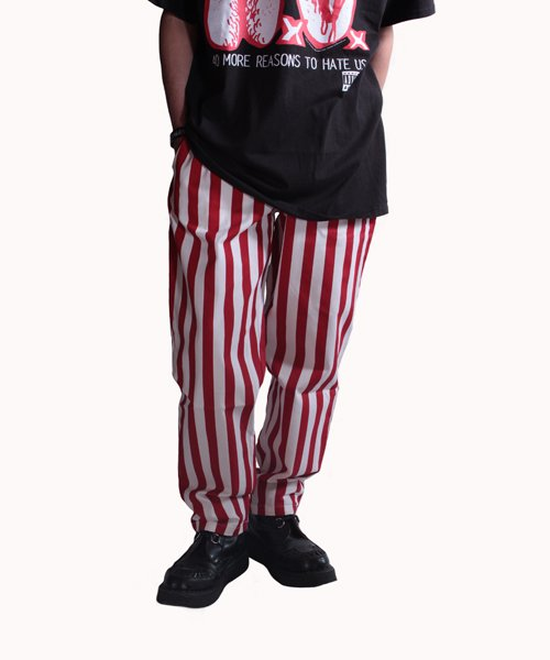 COOKMAN / クックマン | CHEF PANTS / WIDE STRIPE (RED):チーフパンツ 商品画像13