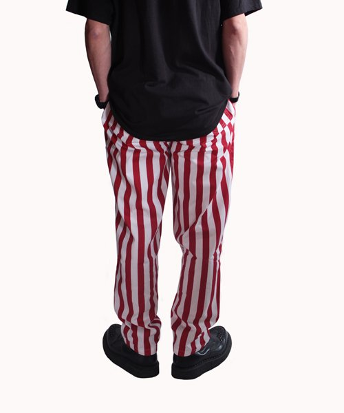 COOKMAN / クックマン | CHEF PANTS / WIDE STRIPE (RED):チーフパンツ 商品画像15