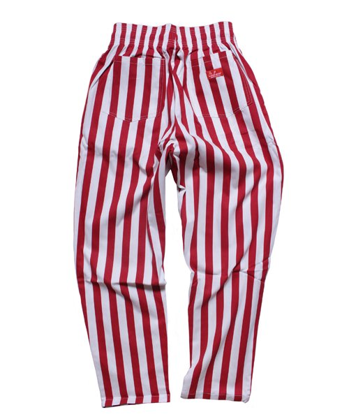 COOKMAN / クックマン | CHEF PANTS / WIDE STRIPE (RED):チーフパンツ 商品画像2