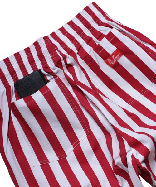 COOKMAN / クックマン | CHEF PANTS / WIDE STRIPE (RED):チーフパンツ 商品画像7