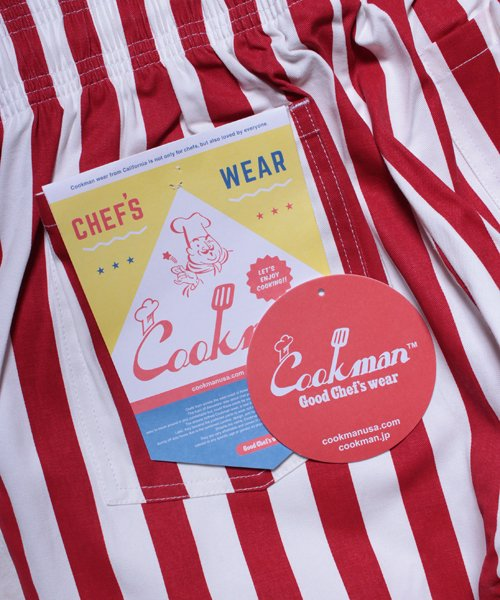 COOKMAN / クックマン | CHEF PANTS / WIDE STRIPE (RED):チーフパンツ 商品画像9