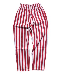 COOKMAN / クックマン /  CHEF PANTS / WIDE STRIPE (RED):チーフパンツ