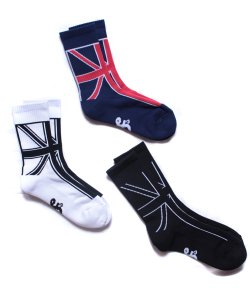 "RALEIGH / ラリー REDMOTEL / レッドモーテル(3色展開)<br>【 ""United Kingdom : colour of the flag"" SK8 SOX 】"