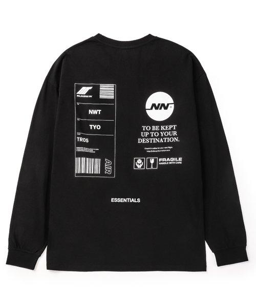NIL DUE / NIL UN TOKYO / ニル デュエ / ニル アン トーキョー    TAG LONG SLEEVE TEE  ( BLACK ) 商品画像