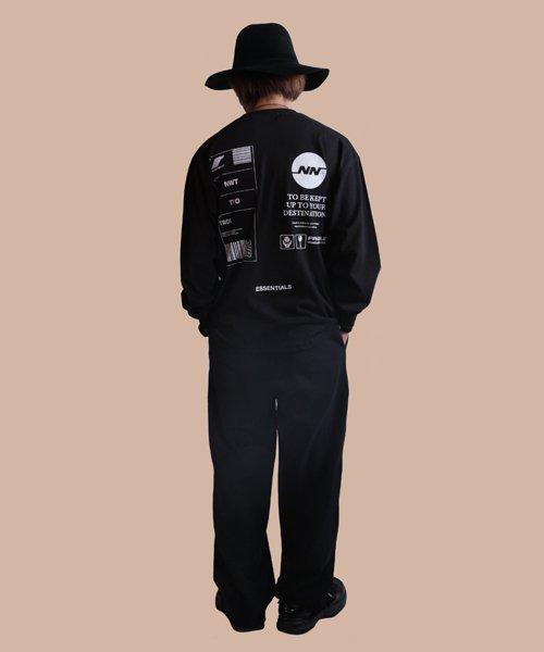 NIL DUE / NIL UN TOKYO / ニル デュエ / ニル アン トーキョー   TAG LONG SLEEVE TEE  ( BLACK ) 商品画像5
