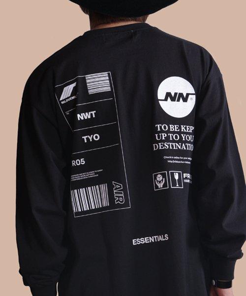 NIL DUE / NIL UN TOKYO / ニル デュエ / ニル アン トーキョー   TAG LONG SLEEVE TEE  ( BLACK ) 商品画像9