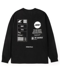 NIL DUE / NIL UN TOKYO:ニル デュエ / ニル アン トーキョー(3色展開)<br>【 TAG LONG SLEEVE TEE  ( BLACK ) 】
