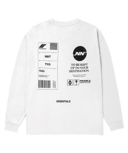 NIL DUE / NIL UN TOKYO:ニル デュエ / ニル アン トーキョー(3色展開)<br>【 TAG LONG SLEEVE TEE  ( WHITE ) 】