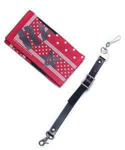 "RALEIGH / ラリー REDMOTEL / レッドモーテル【 ""POLKA DOT"" BANDANA WALLET with ""HANGING DOWN"" LEATHER STRAP(RD)】"