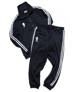 "RALEIGH / ラリー REDMOTEL / レッドモーテル (2色展開)<br>【 ""GRAND MASTER CLA5H"" GANGSTA TRACK SUITS (BK) 】"