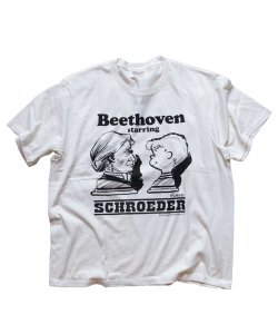 RALEIGH/ラリー REDMOTEL/レッドモーテル<br>【PEANUTS別注 SCHROEDER starring BEETHOVEN T-SHIRTS 完全版(WH/2019 Ver.)】