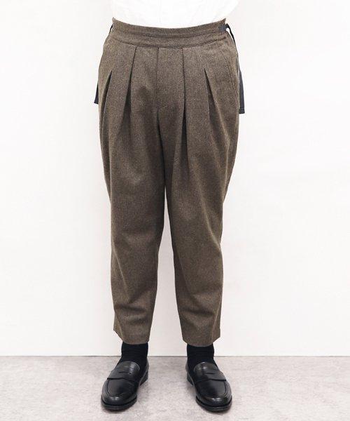 SAYATOMO / サヤトモ | KARUSAN FLANNEL PANTS (BEIGE) 商品画像7
