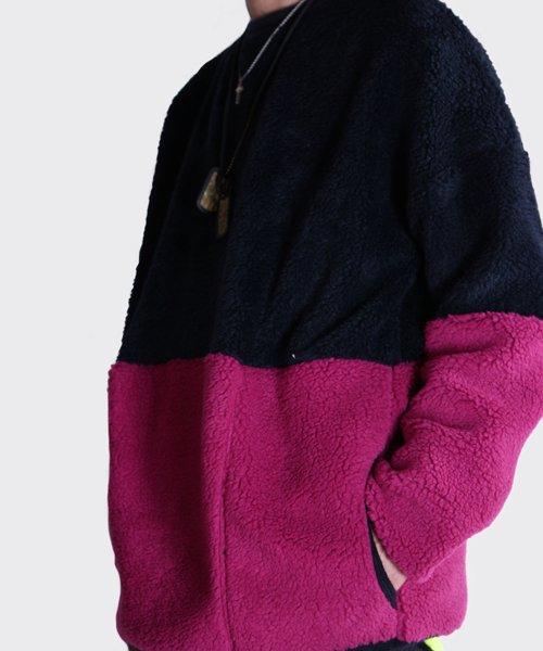 OTHER BRAND / その他ブランド |Enhance Element / エンハンスエレメント トスカーナボア配色プルオーバー (NY×PK) 商品画像20