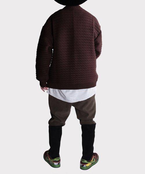OTHER BRAND / その他ブランド  Enhance Element / エンハンスエレメント フリースボンディング裾切替ジョッパーズ (KH×BK) 商品画像16