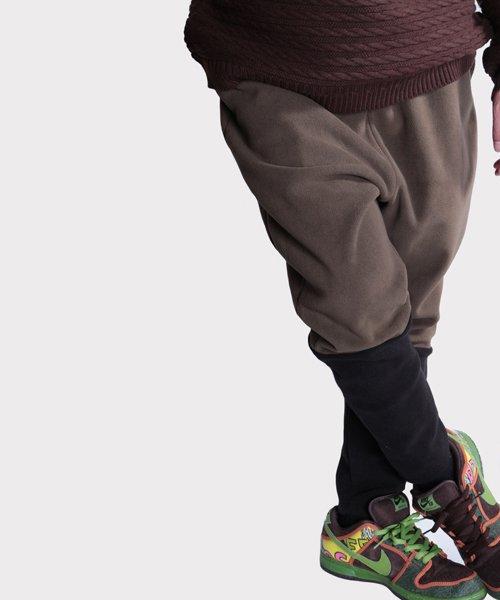OTHER BRAND / その他ブランド  Enhance Element / エンハンスエレメント フリースボンディング裾切替ジョッパーズ (KH×BK) 商品画像20