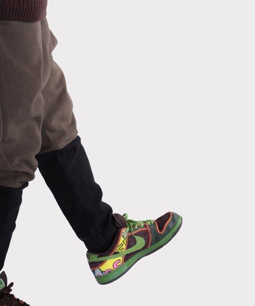 OTHER BRAND / その他ブランド  Enhance Element / エンハンスエレメント フリースボンディング裾切替ジョッパーズ (KH×BK) 商品画像21