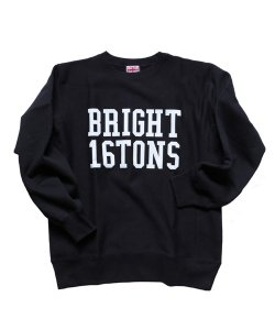 """RALEIGH / ラリー(RED MOTEL / レッドモーテル) /  RALEIGH """"BRIGHT 16TONS"""" REVERSE WEAVE C/N SWEAT (BLACK)"""