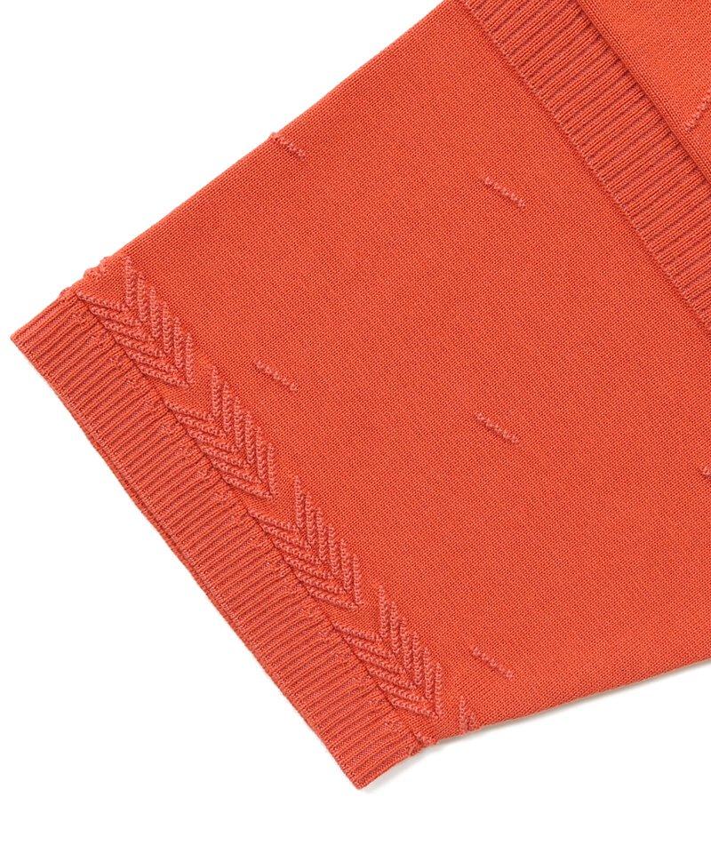 YASHIKI / ヤシキ   KUMPU KNIT POLO (ORANGE RED) 商品画像6