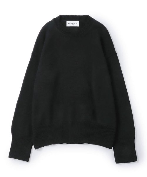 NIL DUE / NIL UN TOKYO / ニル デュエ / ニル アン トーキョー    LONG SLEEVE KNIT (BLACK) 商品画像