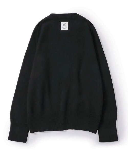 NIL DUE / NIL UN TOKYO / ニル デュエ / ニル アン トーキョー   LONG SLEEVE KNIT (BLACK) 商品画像1
