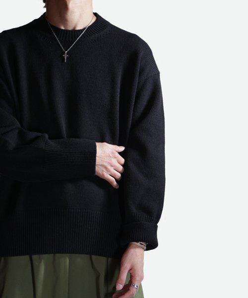 NIL DUE / NIL UN TOKYO / ニル デュエ / ニル アン トーキョー   LONG SLEEVE KNIT (BLACK) 商品画像11