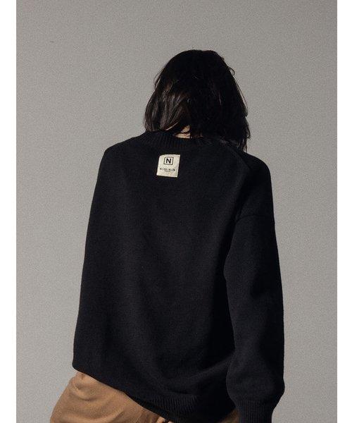 NIL DUE / NIL UN TOKYO / ニル デュエ / ニル アン トーキョー   LONG SLEEVE KNIT (BLACK) 商品画像4