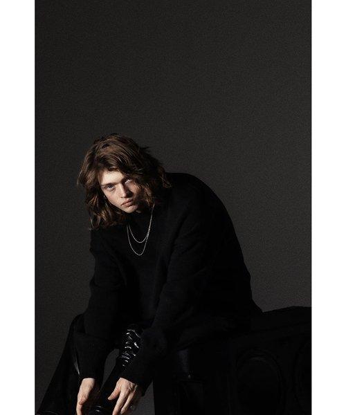 NIL DUE / NIL UN TOKYO / ニル デュエ / ニル アン トーキョー   LONG SLEEVE KNIT (BLACK) 商品画像5