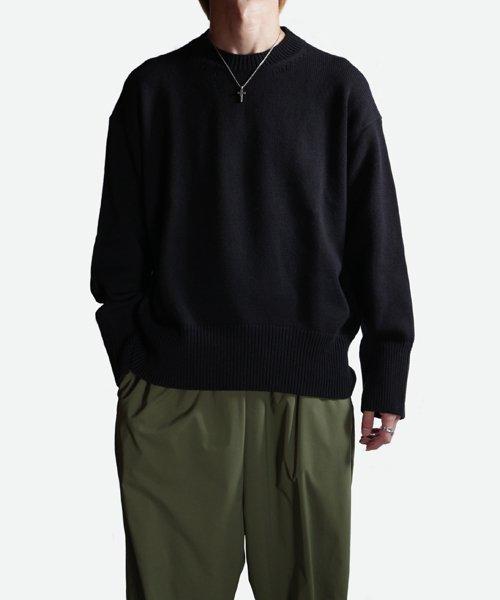 NIL DUE / NIL UN TOKYO / ニル デュエ / ニル アン トーキョー   LONG SLEEVE KNIT (BLACK) 商品画像9