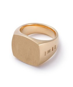 NIL DUE / NIL UN TOKYO / ニル デュエ / ニル アン トーキョー /  CARVED SEAL SQUARE RING (GOLD)