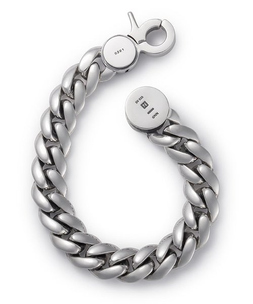 NIL DUE / NIL UN TOKYO / ニル デュエ / ニル アン トーキョー |  CARVED SEAL CHAIN BRACELET (SILVER) 商品画像