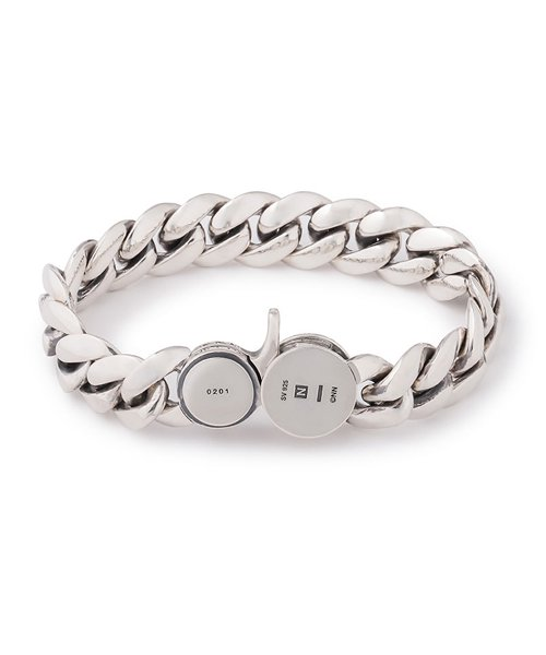 NIL DUE / NIL UN TOKYO / ニル デュエ / ニル アン トーキョー | CARVED SEAL CHAIN BRACELET (SILVER) 商品画像1