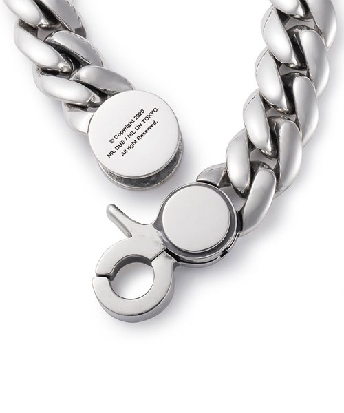 NIL DUE / NIL UN TOKYO / ニル デュエ / ニル アン トーキョー | CARVED SEAL CHAIN BRACELET (SILVER) 商品画像2