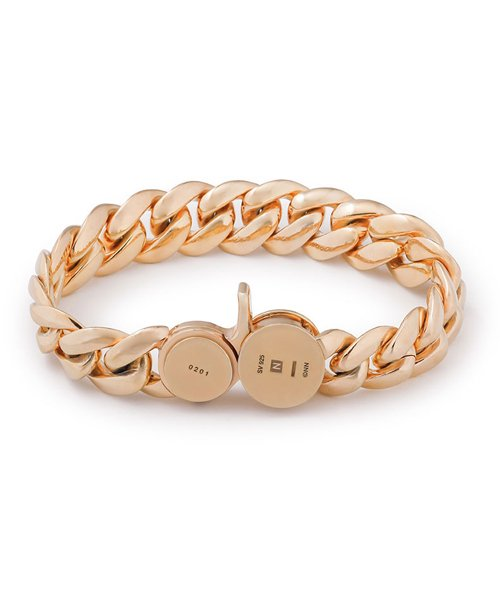 NIL DUE / NIL UN TOKYO / ニル デュエ / ニル アン トーキョー | CARVED SEAL CHAIN BRACELET (GOLD) 商品画像1