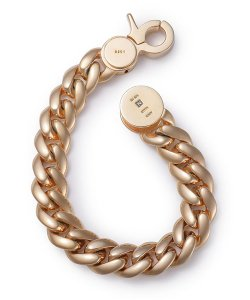 NIL DUE / NIL UN TOKYO / ニル デュエ / ニル アン トーキョー /  CARVED SEAL CHAIN BRACELET (GOLD)