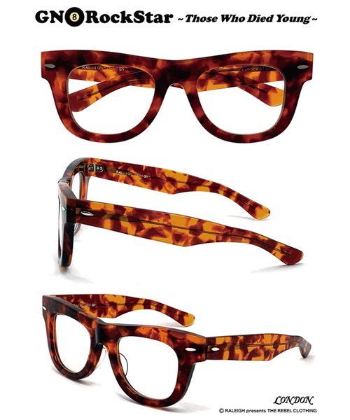 """RALEIGH / ラリー(RED MOTEL / レッドモーテル)   GN8 ROCKSTAR """"THOSE WHO DIED YOUNG"""" EYE GLASSES (AMBER CLEAR)商品画像"""