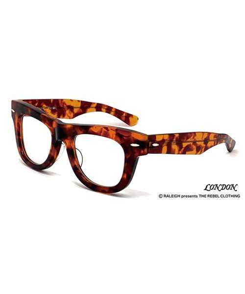 """RALEIGH / ラリー(RED MOTEL / レッドモーテル)  GN8 ROCKSTAR """"THOSE WHO DIED YOUNG"""" EYE GLASSES (AMBER CLEAR)商品画像1"""