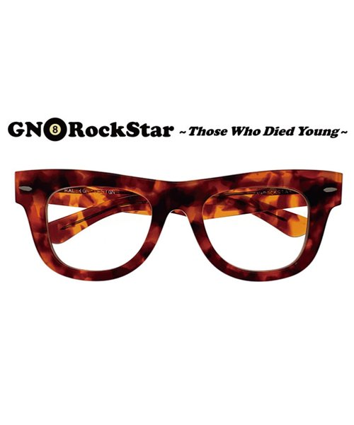 """RALEIGH / ラリー(RED MOTEL / レッドモーテル)  GN8 ROCKSTAR """"THOSE WHO DIED YOUNG"""" EYE GLASSES (AMBER CLEAR)商品画像2"""