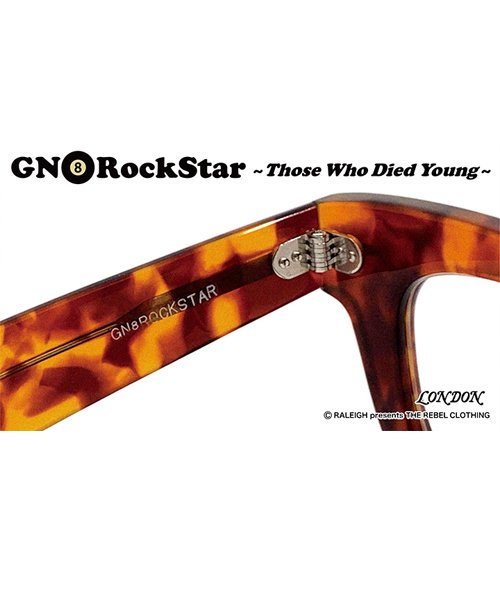 """RALEIGH / ラリー(RED MOTEL / レッドモーテル)  GN8 ROCKSTAR """"THOSE WHO DIED YOUNG"""" EYE GLASSES (AMBER CLEAR)商品画像4"""