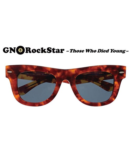 """RALEIGH / ラリー(RED MOTEL / レッドモーテル)  GN8 ROCKSTAR """"THOSE WHO DIED YOUNG"""" EYE GLASSES (AMBER SMOKE)商品画像2"""