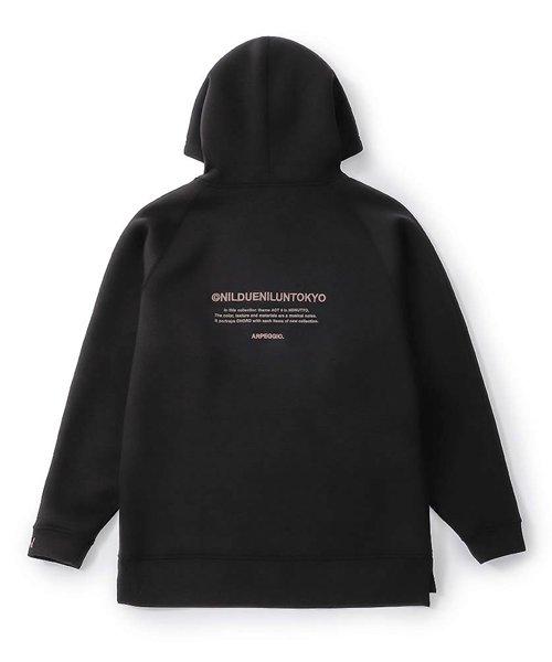 NIL DUE / NIL UN TOKYO / ニル デュエ / ニル アン トーキョー    EMBROIDERY LOGO HOODIE (BLACK) 商品画像